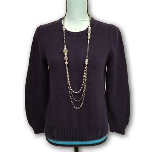 5/$30 Cabin Creek Navy Blue Knitted Sweater PM